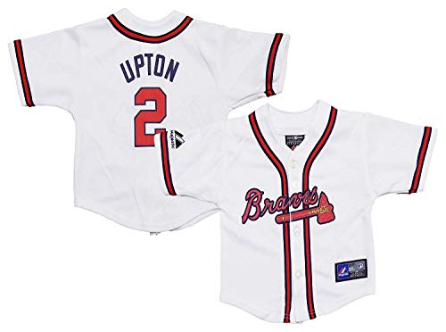 Outerstuff Melvin B.J. Upton Atlanta Braves #2 White Youth Authentic Home Replica Jersey (18 Months)