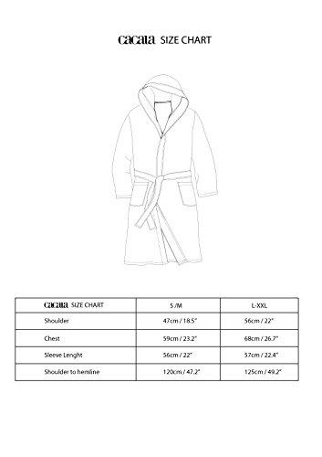 660a79454e Amazon.com  Cacala Hooded Turkish Bathrobe – Comfortable 100% Cotton  Turkish Bath Towel Fabric – Bright
