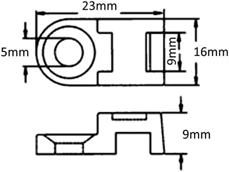 AERZETIX 100 Bases de fijaci/ón por tornillo para bridas abrazaderas de sujeci/ón cables alambres max 9mm 41851