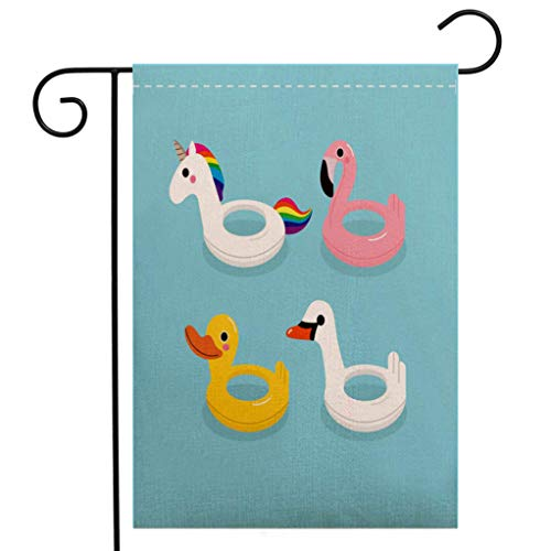 - BEIVIVI Custom Double Sided Seasonal Garden Flag Cute Swim Ring Garden Flag Waterproof for Party Holiday Home Garden Decor