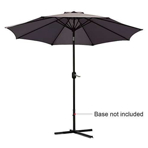 Quictent 9FT Patio Umbrella Tilt Aluminum Outdoor Market Umbrella with Crank and Wind Vent 100% Polyster Brown Review