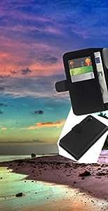 NEECELL GIFT forCITY // Billetera de cuero Caso Cubierta de protección Carcasa / Leather Wallet Case for Sony Xperia Z3 D6603 // Hermosa Isla de la serenidad