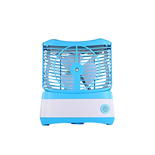 Elevin(TM)  Humidifying Fan Spray Cooling USB Desktop Small Air Conditioning Fan (Blue) -