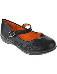 Lola 6F Little Girls Ballerina School Shoes Black