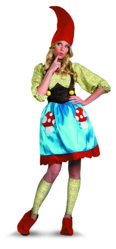 Disguise Women's Ms. Gnome Costume, Blue/Green/Red, Small (Gnome Halloween Costume)