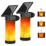 Flickering Solar Lights Outdoor Dancing Solar Powered Wall Flame Light Sensor Auto on/Off Security Garden Light, 102 LED Solar Torches Lighting for Patio Yard Door Stairs (2 Pack) by Arichomy