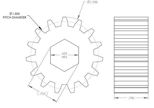 Lippert 123356 Heavy Duty RV Slide-Out Gear Pack with Steel Rollers 2.5 x 2.5