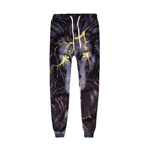 Battercake Slim Negro Moda Hombre Impresos Pantalones Para De Fit 3d Cómodo Elásticos Largos Deportivos rwTrUx