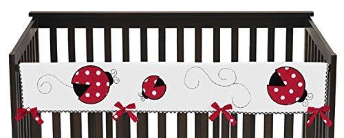 Jojo Designs Ladybug (Sweet Jojo Designs Red and White Little Ladybug Long Front Rail Guard Baby Girl Teething Cover Protector Crib Wrap)