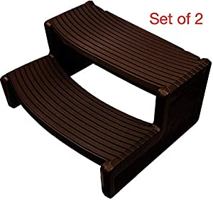 VirtualSurround HS2 Espresso Resin Handi-Step for Spa and Hot Tubs New