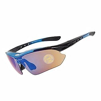 Gafas polarizadas de bicicleta RockBros, protección UV, ultraligeras, con 5 cristales