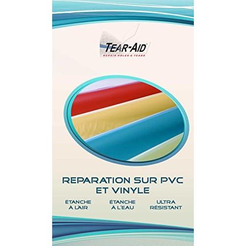 Kit de réparation instantanée et sans colle de vestes, bâches, jouets et bateaux gonflables en PVC ou en vinyle