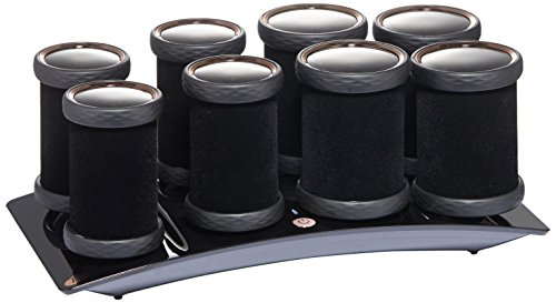T3 Micro Voluminous Hot Rollers Luxe Hair Roller, Black, 51.2 oz.