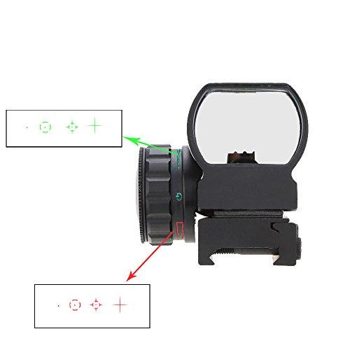 1X33 Red Green Dot Sight Scope Illuminated Tactical Riflescope Hunting Optics Reflex Lens + Allen Wrench (Riflescope Mens)