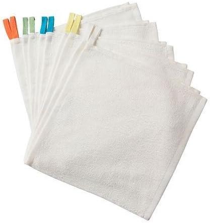 eLisa8 IKEA Krama 10 - Manopla de baño (algodón, 30 x 30 cm), Color Blanco: Amazon.es: Hogar