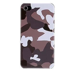 HP- Gris y Blanco Modelo del camuflaje dura protectora del caso para el iPhone 4/4S
