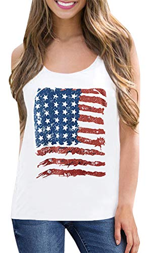 Flag Printed Tank Top