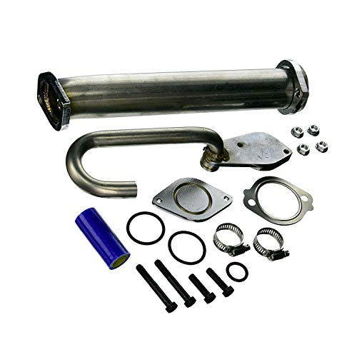 Facaing 6.0 EGR Valve Pipe Kit fits Ford 6.0L Diesel Powerstroke | 03-07 Ford Super Duty F250 F350 F450 F550, 03-05 Ford Excursion, 04-10 Ford E350 E450 | Replace 904-228, 3C3Z6A642CA