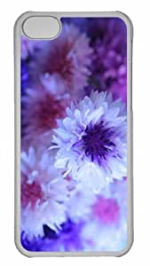 Customized iphone 5C PC Transparent Case - Cornflower Bouquet Personalized Cover