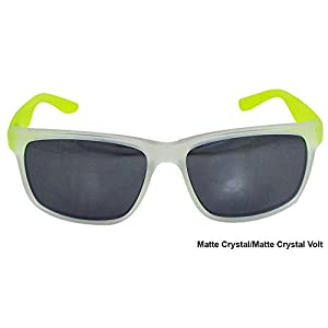 Nike Grey with Mild Silver Flash Lens Cruiser R Sunglasses, Matte Crystal/Matte Crystal Volt