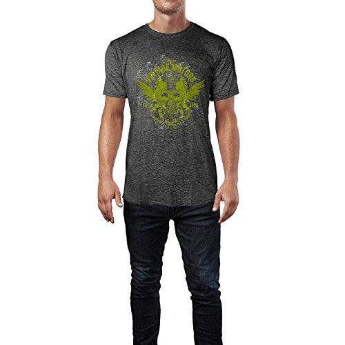 SINUS ART® Vintage Motors L.A. Riders Herren T-Shirts in dunkelgrau Fun Shirt mit tollen Aufdruck