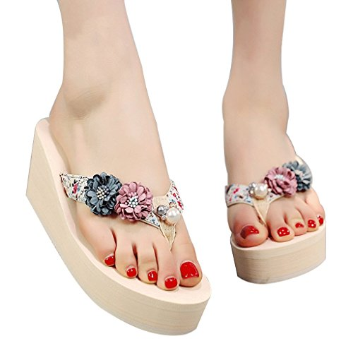 antiscivolo estivi UK alto 7 Sandali spesso col 0 Fondo dimensioni Pantofole tacco femminili qwaBA8