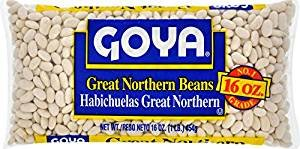 Goya Great Northern Beans Habichuelas 16 Oz. Pack Of 3. by Goya
