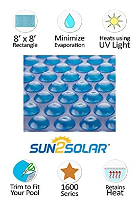 Sun2Solar Rectangle Solar Cover Heating Blanket for Above-Ground and in-Ground Swimming Pools Along with Spas| 16 Mil by Sun2Solar