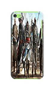 2014 Hot fashionable TPU Super Hard Cool Assassin's Creed Patterns for iphone 5c Case