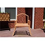 GCD-Austram Patio Arm Chair, 30-Inch, Mustard Yellow
