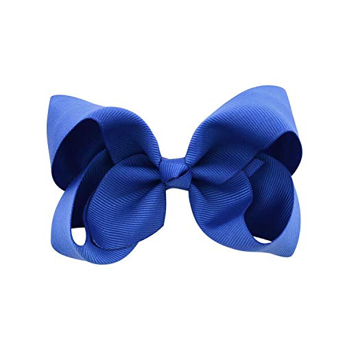 Balalei 3/4/6/8inch Boutique Handmade Colorful Solid Ribbon Grosgrain Hair Bow With Clips For Kids Girls Hair Accessories,6,Your eyes]()
