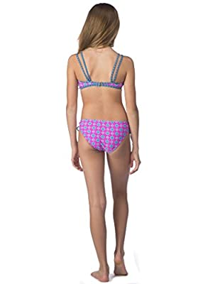 Hobie Big Girls' Mix It up Two Piece Bralette Hipster Swimsuit