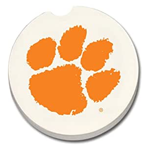 NCAA Car Coaster (Set of 2) NCAA Team: Clemson Tigers
