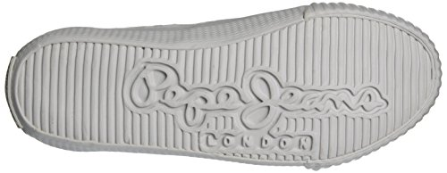Pepe Jeans London Industry Routes Girls, Zapatillas Para Niñas Blanco (White)
