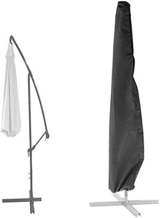 Loietnt - Funda para sombrilla de jardín, Extragrande, Impermeable, con Cremallera, Tela Oxford 420D, Color Negro, Black Banana Umbrella Cover: Amazon.es: Jardín