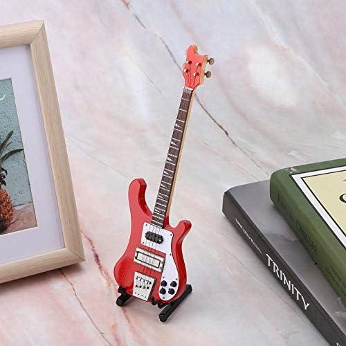 Zeukulele Hign Grado Rojo Miniatura Bajo Guitarra Figuritas ...