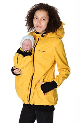 GoFuture gofu Ture Veste de grossesse vêtements de maternité Veste de portage Concordia Shell 5in1 Concordia Shell KS2071 (jaune avec doublure bleue , XL)