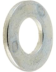 """Steel Flat Washer, Zinc Plated Finish, ASME B18.22.1, 5/16"""" Screw Size, 11/32"""" ID, 11/16"""" OD, 0.065"""" Thick (Pack of 100)"""