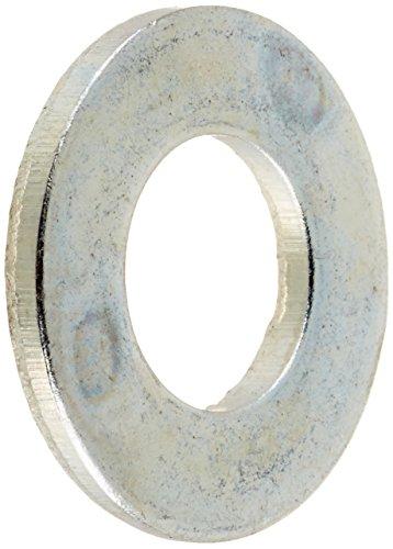 "Steel Flat Washer, Zinc Plated Finish, ASME B18.22.1, 5/16"""