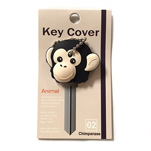 Key Cover / Key Caps / Key Holder / Keycaps - Cute Animal Pet Faces (Chimpanzee)