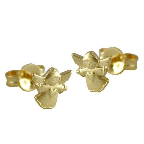 Earrings, fliegender Engel, 9Kt GOLD