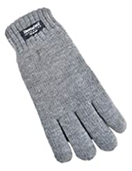 Boys Thinsulate Thermal Insulated Knitted Winter Outdoor Gloves for Kids (6-7 Years, Grey)