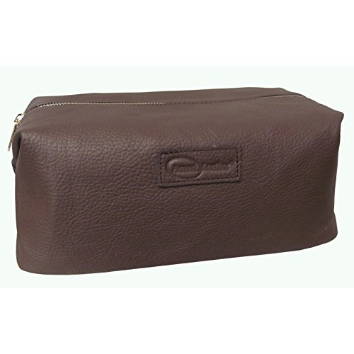 Amerileather Leather Toiletry Bag Brown - 6