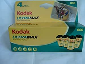 Kodak Ultramax 800 Color Negative Film (ISO 800) 35mm 24 Exposures 4 Roll Pack (603 0191)