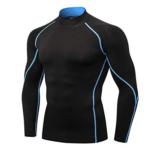 1058 noir bleu line S NUASH Séchage Rapide Compression Sport Shirt Hommes FonctionneHommest Fitness T Shirt Serré Football Basketball Jersey Sportswear