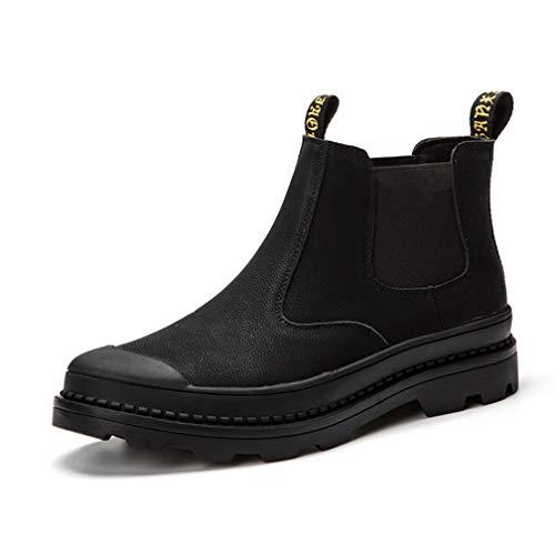 [シュウカ] 靴 カジュアルシューズ カジュアルブーツ ブラック サイドゴアブーツ シンプル メンズ ショートブーツ 革靴 皮靴 男性の 紳士靴 メンズ靴 ブーツ 26.5cm サイドゴア 大人 黒 きれいめ ブーツ ウェスタンブーツ ワークブーツ