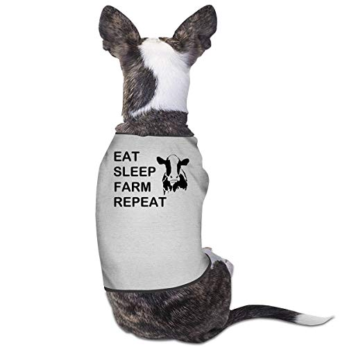 - Eat Sleep Farm Repeat Pet Sleeveless Dog Cat Vest Shirt