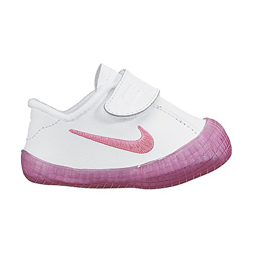 Nike Waffle 1 (CBV) Zapatillas, Bebé-niños Blanco / Rosa (White / Pink Pow)