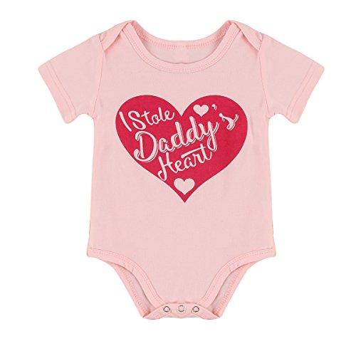 Infant Newborn Boy Girls Love Heart Cotton Romper Jumpsuit Bodysuit Baby Clothes (Size : 90)