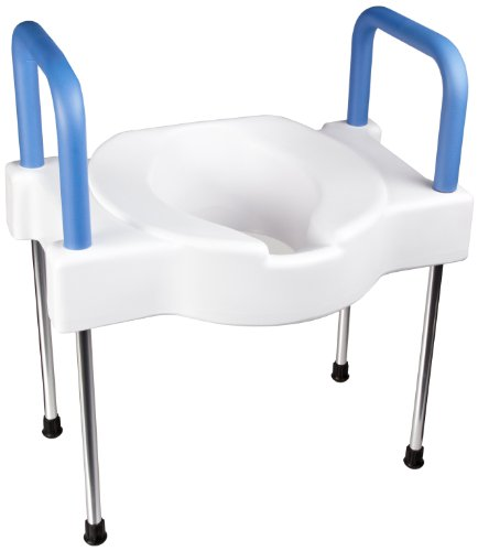 Maddak Tall-Ette Elevated Toilet Seat with Extra Wide Seating Surface and Legs (725881000) (Tall Elevated Toilet Seat Ette)